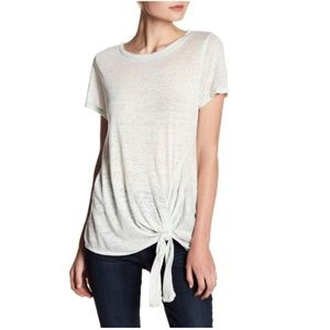 Susina Tie-Front Faded Tee